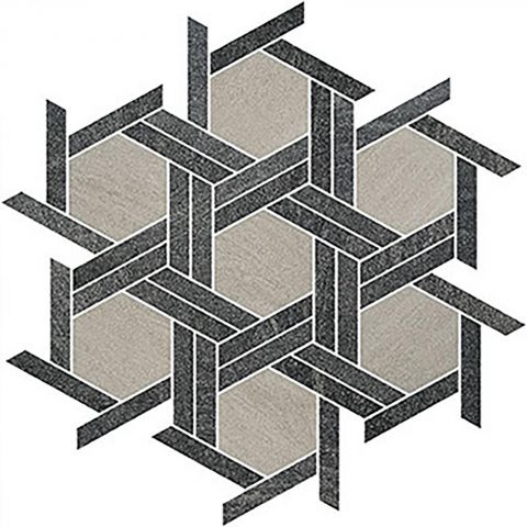 Brave Hex Weave Light Grey, Dark Grey