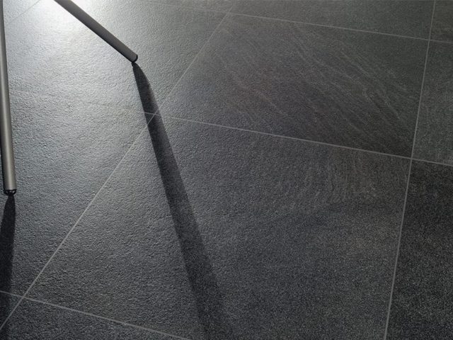 Brave Dark Gray Tile Installation