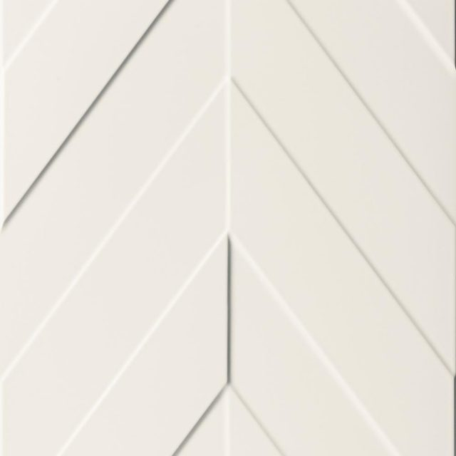 Multidimensional White Chevron 3D Textured Ceramic Wall Tile