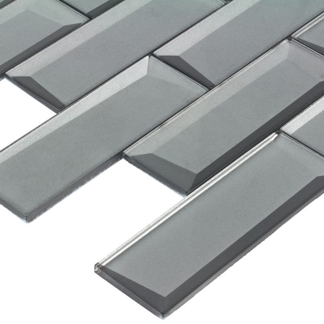 Outlast Grey Glass Wall Tile