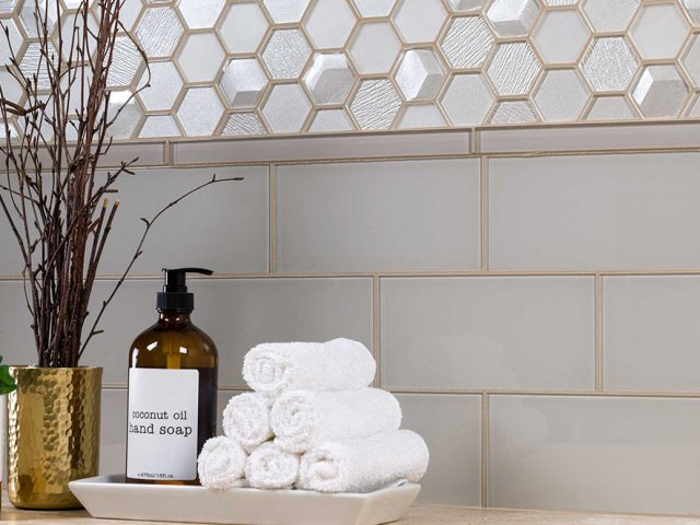 Outlast Hexagon Glass Mosaic Tile