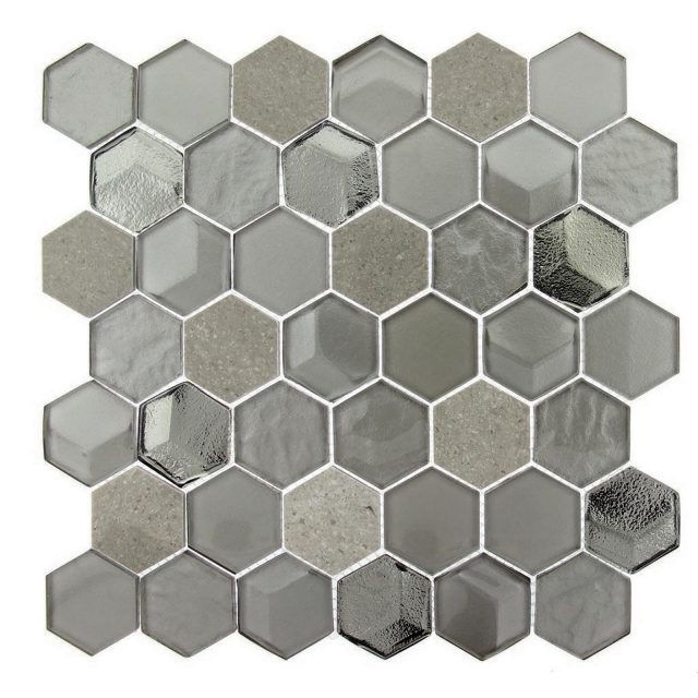 Queen's Lair Frosted Hive Classic Glass Mosaic Tile