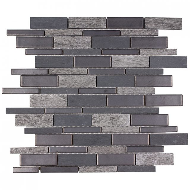 Tempo Dark Mountain Glass Wall Tile
