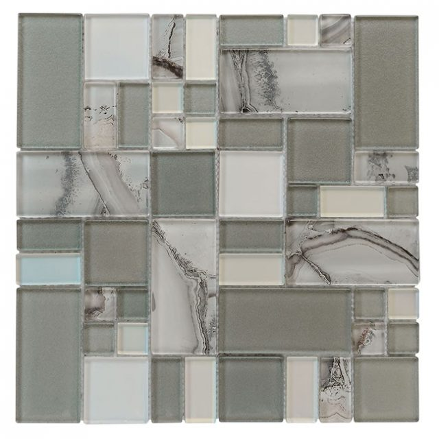 Tempo Silver Onyx Glass Wall Tile
