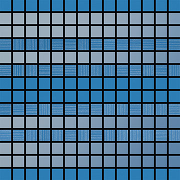Numbered Blue Ombre Mosaic