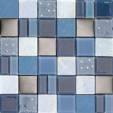 Numbered Blue Pattern Mix