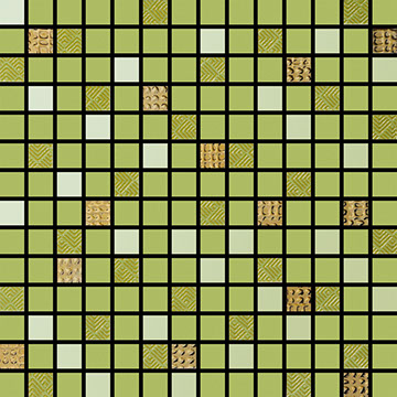 Numbered Green Multi Mosaic,