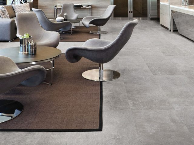 Assent Collection Porcelain Grey Tile Installation
