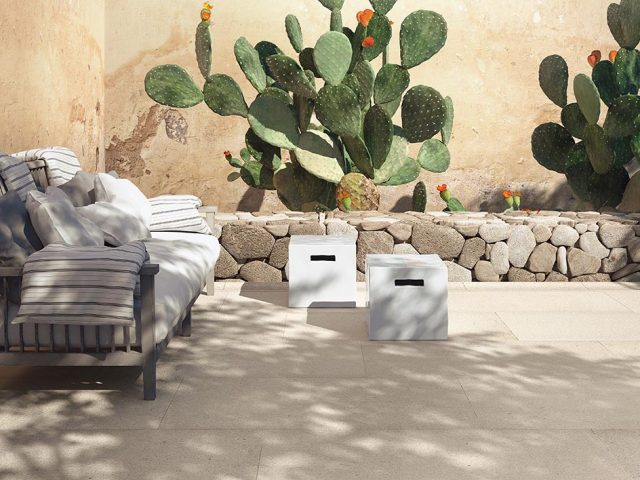 Calcare Porcelain Tile Outdoors Installation