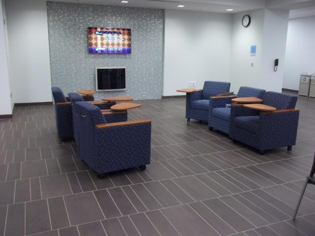 Canisius College Science Hall Common Area Floors - Mosa Tile Installation