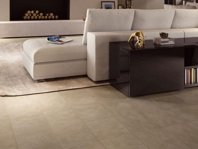 Compound Collection 12x24 Fawn Porcelain Tile Installation