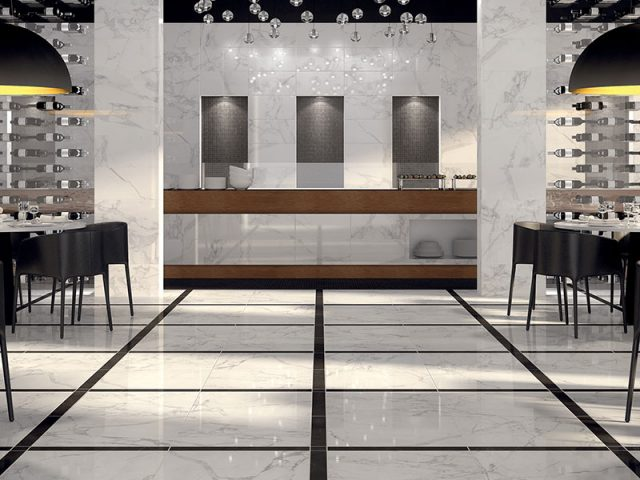Deluxe Collection Marble-Look Porcelain Tile Installation