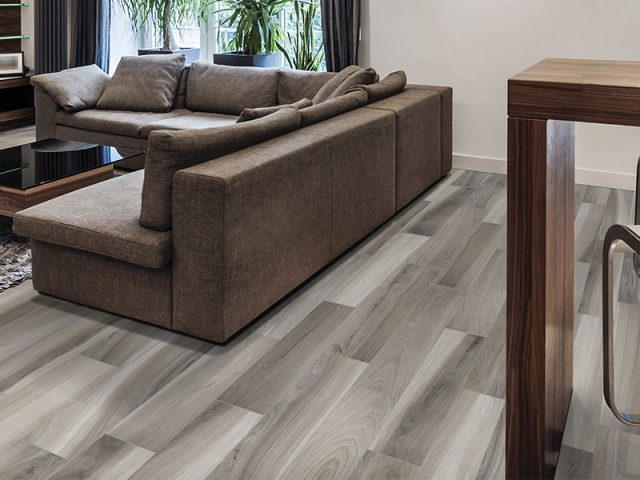 Dimensional Wood-Look Porcelain Tile 6x36 Ash Installation