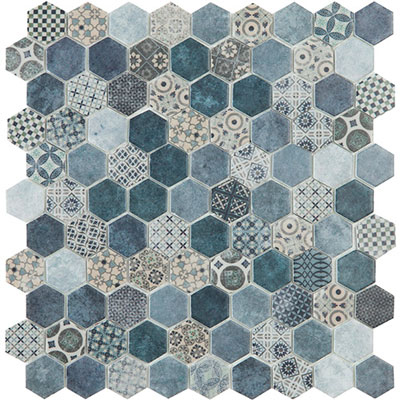 Hive Patch Blue Decor Mix