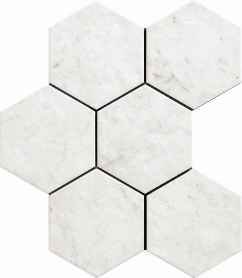 Retreat 8x7 Hex Carrara