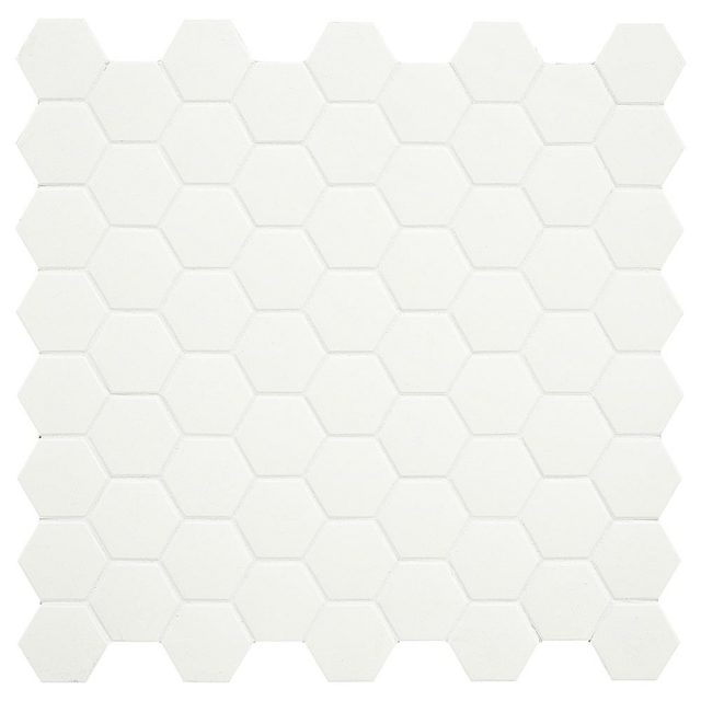 Placid Cream Hex Mosaic Porcelain Tile