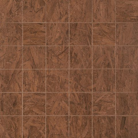 Plywood 2x2 Mosaic Sienna Brown